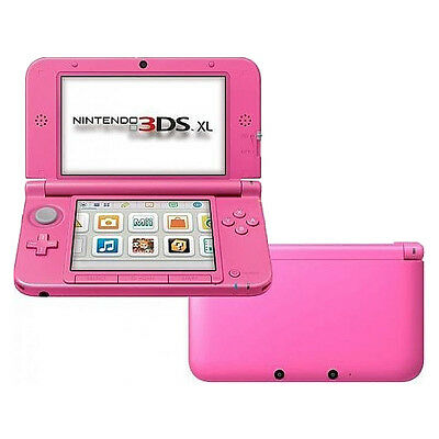 Nintendo 3DS XL Pink Handheld System Very Good Condition