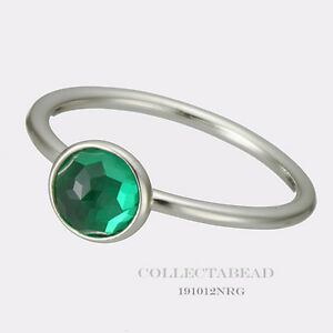 e3ab83273 Image is loading Authentic-Pandora-Silver-May-Droplet-Green-Ring-Size-