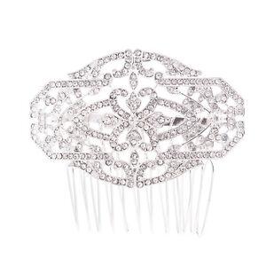Rhinestone-Crystal-Wedding-Bridal-Hair-Comb-Side-Comb-Accessories-Jewelry-GT4368