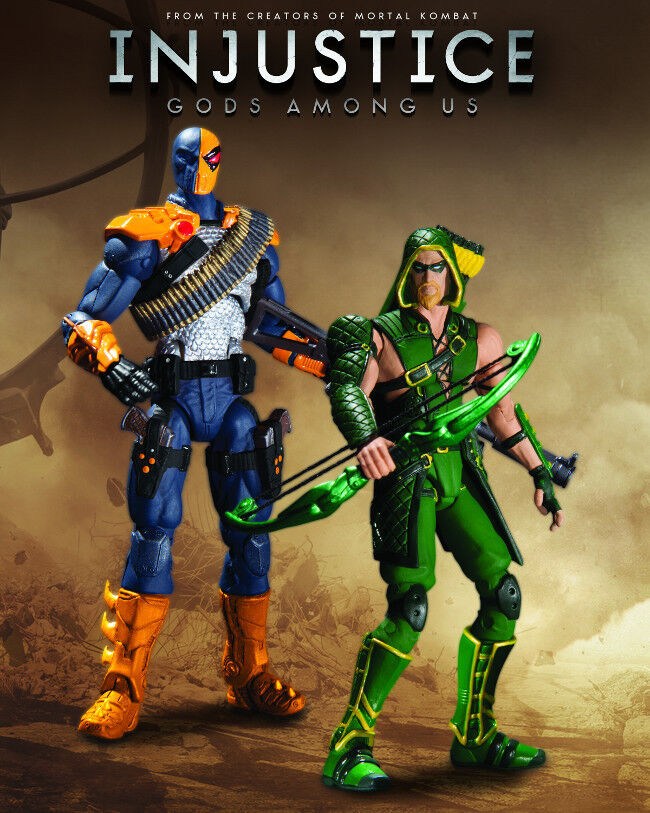 DC Collectibles_GREEN ARROW vs DEATHSTROKE 3.75    figures_Injustice Gods Among Us 85cc55