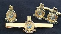 Royal Marines Military Cufflinks, Badge, Tie Clip Military Gift Set
