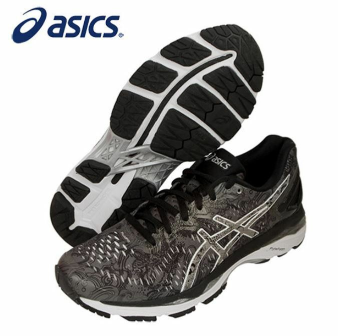 Asics Women Gel Kayano23 LITE SHOW CarbonSilver Running Shoes,SneakersT6A6N-9793