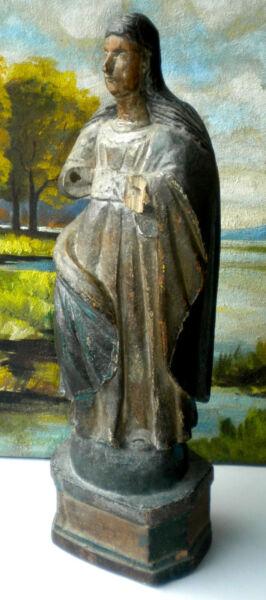 061110 Antica Madonna In Legno Policromo, Di Area Meridionale. Fine Settecento Può Essere Ripetutamente Ripetuto.