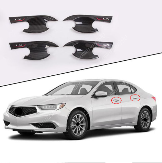 For Acura TLX 2015-2020 Carbon Fiber Look Side Door Bowl