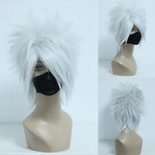 Ladieshair Cosplay Wig Perücke grau 35cm glatt NARUTO Hatake Kakashi GTC
