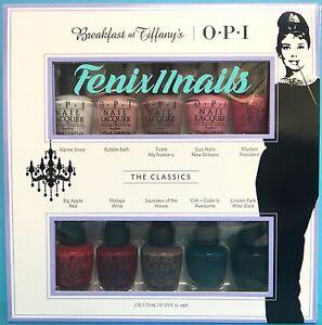 OPI-BREAKFAST-AT-TIFFANY-039-S-10-pc-Mini-Nail-Polish-Gift-Set-HRH26-Top-Ten-Colors