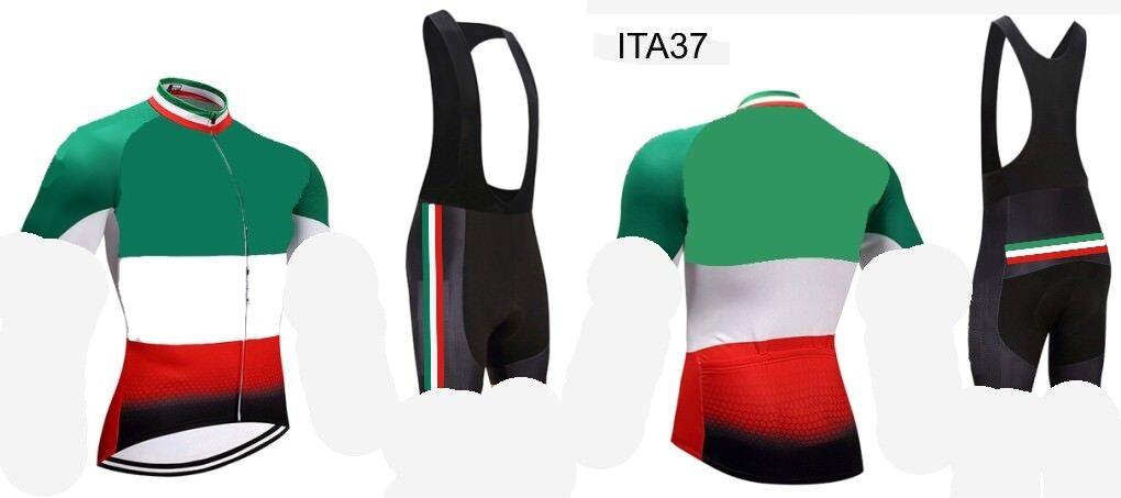 ITALIA 2018 BIKE ITA37 CICLISMO MTB BIKE COMPLETO MAGLIA SALOPETTE FONDELLO GEL