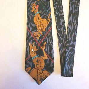 Vintage Scooby Doo Necktie 100% Silk Made in 1998 Cartoon Network Hanna Barbera