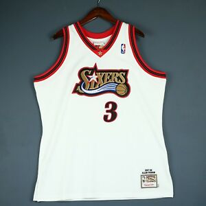 2ceb9c020d8 100% Authentic Allen Iverson Mitchell & Ness 97 98 Sixers Jersey ...