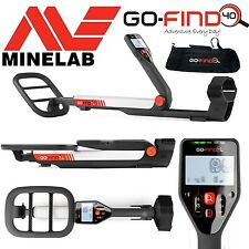 **New** MINELAB GO FIND 40 METAL DETECTOR with SUBMERSIBLE COIL - Includes Bag!