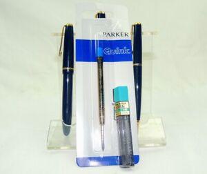 Nice-Boxed-Triple-Parker-Pen-Fountain-Pen-Ballpoint-amp-Pencil-Set-amp-Refills-H1