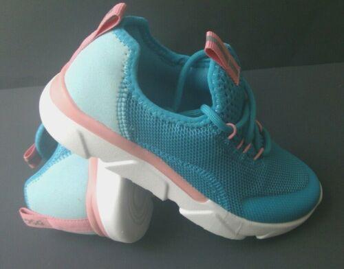 Details about  /Girls Size 11,12,13,1,2,3 Sneakers DICKS SEGUNDO AQUA BLUE PINK Running Shoes