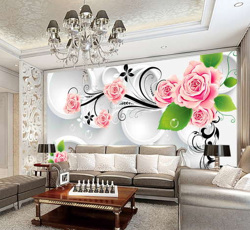 3D Fancy Pattern Bubble Paper Wall Print Wall Decal Wall Deco Indoor Murals