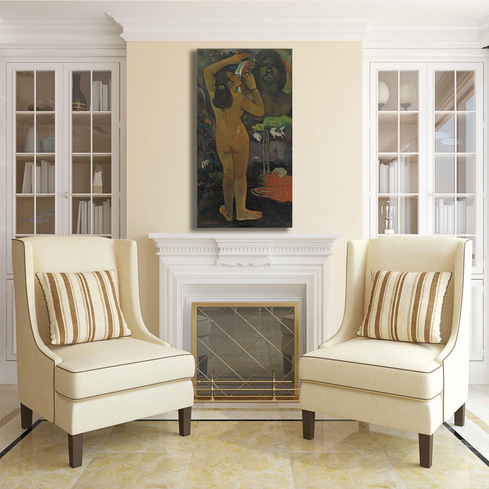 Gauguin la luna e la design terra design la quadro stampa tela dipinto telaio arRouge o casa 9a12e5