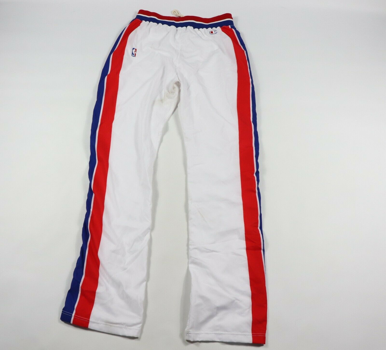 Vintage 90s Champion 38 NBA Authentisch Detroit Pistons On Court Hose Weiß 93-94