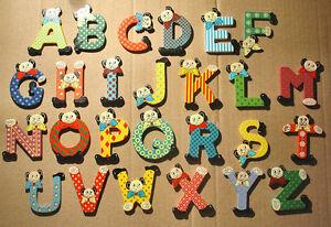 Lettere Di Legno Colorate : Lettere in legno con orsetto per cameretta cod ebay