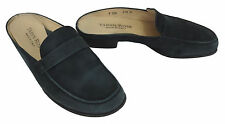 Taryn Rose 7 - 7.5 37.5 Blue Nubuck Suede Clogs Mules Slides Womens Shoes Italy