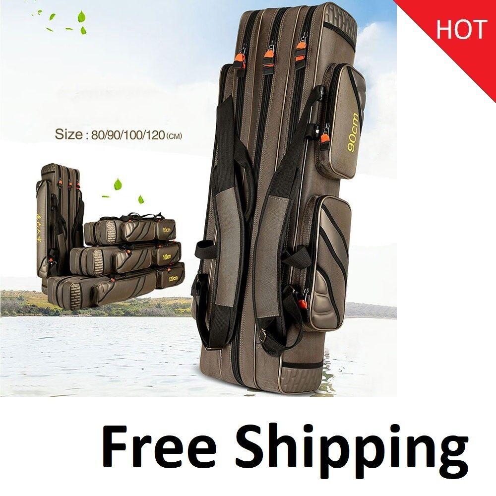 Portable Fishing Bags Bags Bags 3 Layer Multi-function Nylon Waterproof Waist Shoulder 2069ae