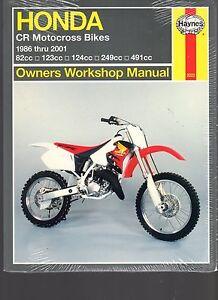 honda cr motocross bikes 1986 thru 2001 owners workshop manual seeimage is loading honda cr motocross bikes 1986 thru 2001 owners
