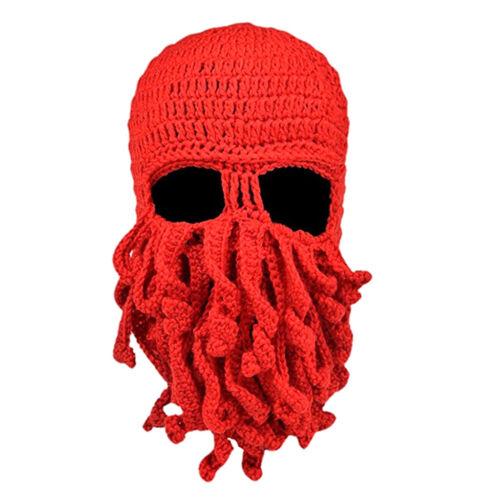Mens Womens Tentacle Octopus Cthulhu Knit Beanie Windproof Ski Mask Hat Cap