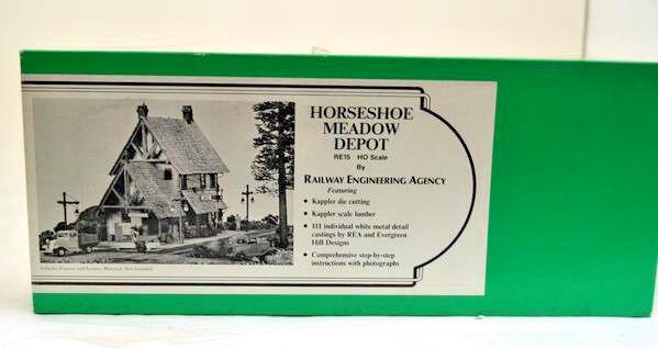 Ho Scale Railway Engineering Agency Kit  RE15 Horseshoe Meadow Depot
