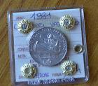 MONETA CITTA' DEL VATICANO 5 LIRE PIO XI 1931 sigillata SPL/FDC SUBALPINA