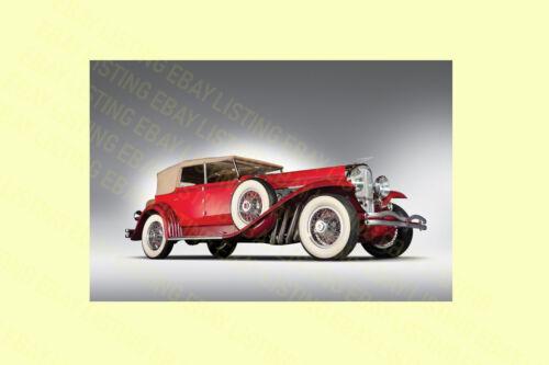 NEW DESIGN,ORIGINAL CAR POSTER PRINT PREMIUM VINTAGE RED CAR