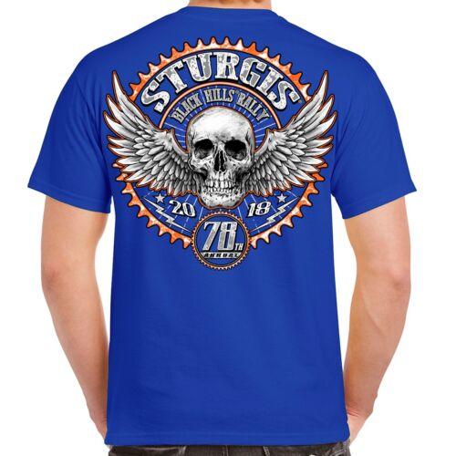 Biker Life USA 2018 Sturgis Black Hills Rally Gearhead T-Shirt