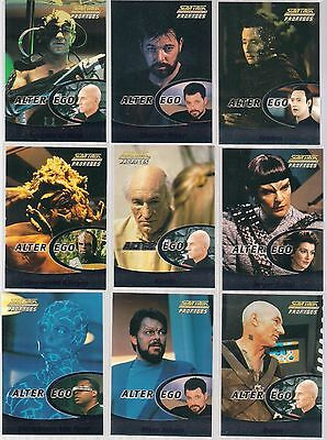 STAR TREK THE NEXT GENERATION PROFILES SET OF 9 FIRST CONTACT CARDS F1-F9