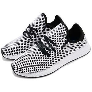 reputable site c3c03 41f78 Image is loading adidas-Originals-Deerupt-Runner-Black-White-Men-Running-