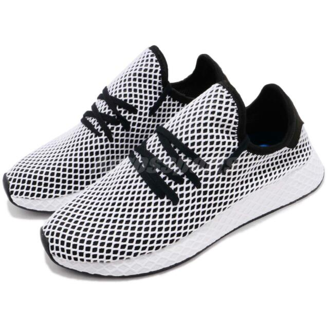 new style 1b088 4f6fb adidas Originals Deerupt Runner Black White Men Running Shoes Sneakers  CQ2626