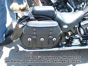 REDUCED - Black Motorcycle Saddlebags Waterproof Panniers Fits Harley Softail