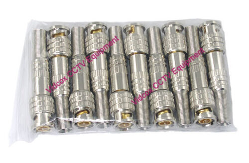100x Twist Spring Gold Plated Coaxial BNC Connector Adapter Jack CCTV Camera DVR