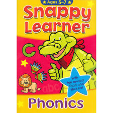 SNAPPY LEARNER WORDS & PHONICS EDUCATIONAL SCHOOL BOOK & REWARD CHART AGE 5-7