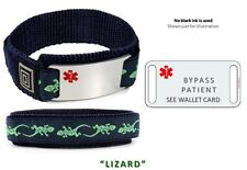 BYPASS PATIENT Sport Medical Alert ID Bracelet. Free medical Emergency Card!