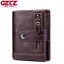 Unisex-Genuine-Leather-Cowhide-Wallet-Trifold-Credit-Card-ID-Holder-Zip-Purse thumbnail 1