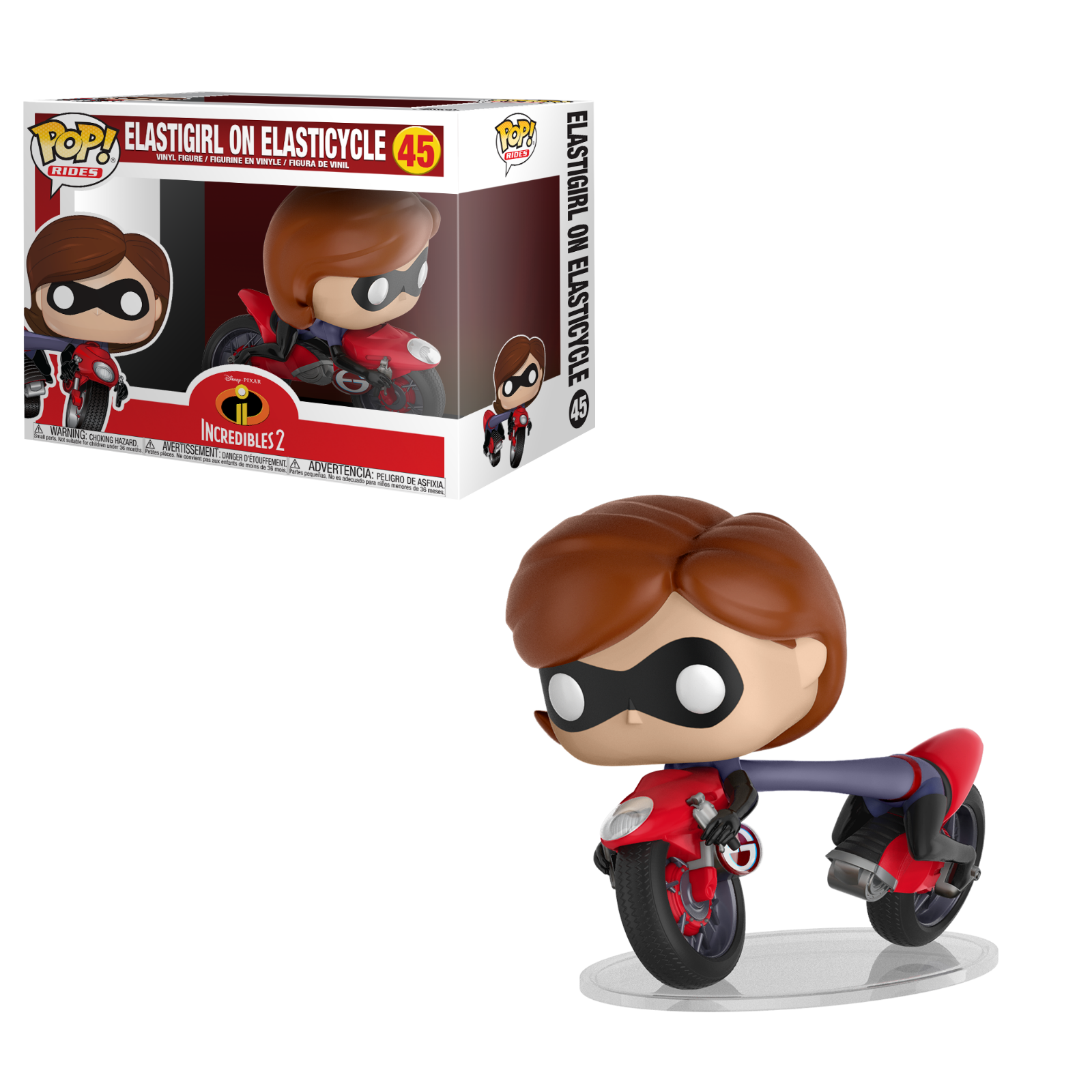 Funko pop - fahrten - incrotibles 2 - elastigirl auf elasticycle 45