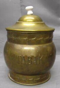Antique-Old-Vintage-Dutch-Tobacco-Tabak-Jar-Container-humidor-Rio-Tiel-Holland