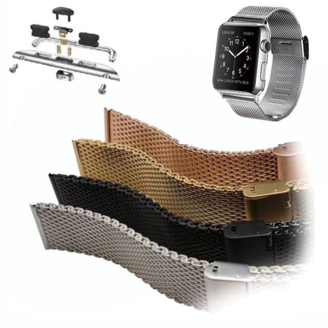 Stainless Steel Armband Uhrenarmband mit Adapter für Apple Watch Uhr 38mm/42mm