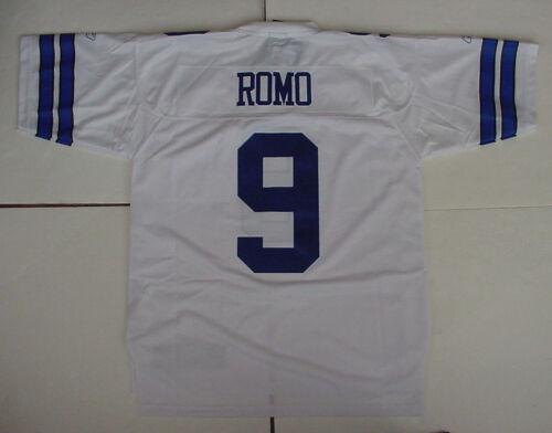 Tony Romo 9 Trikot HERREN Reebok Prem Genäht Dallas Cowboys Authentisch Gr L XL