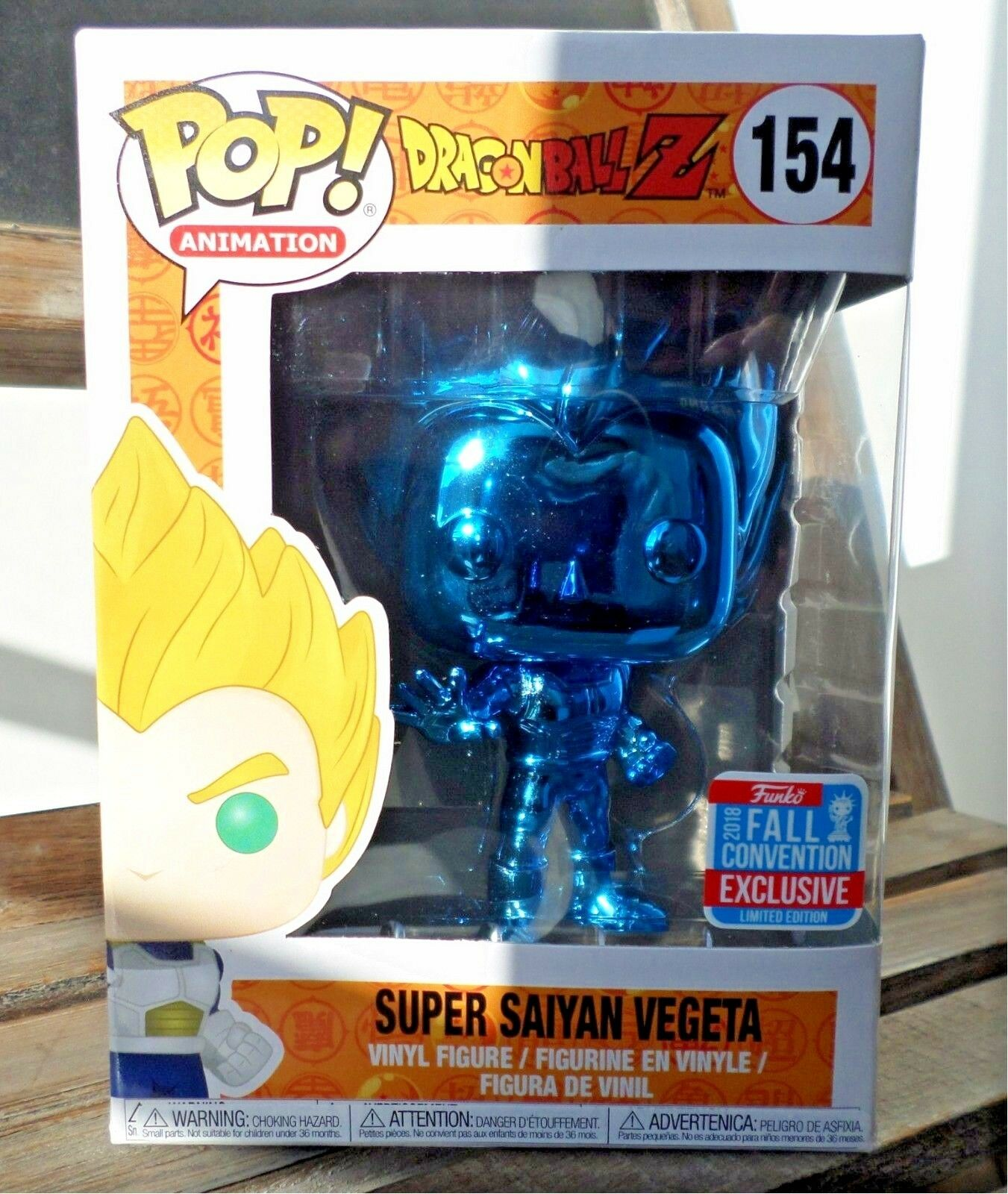 Funko pop - vinyl - dragon ball z super saiyan vegeta blaue chrome nycc 2018