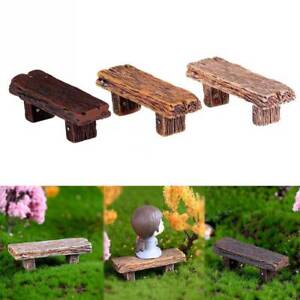 Pleasant Details About 1Pcs Long Wood Bench Miniature Figurine Garden Diy Accessories Doll House Decor Alphanode Cool Chair Designs And Ideas Alphanodeonline