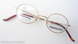 Tennessee-Minibrille-Metall-Gestell-kleine-Glasform-oval-unisex-gold-size-S