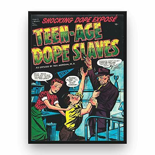 Marijuana Propaganda Poster Teen-Age Dope Slaves 13x19 Inch Wall Art Print