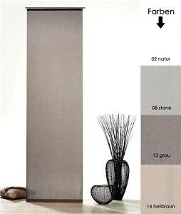 Schiebegardine-Batist-Optik-Natur-Matt-mit-Zubehoer-Schiebevorhang-Gardine-Typ410