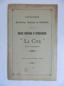 Catalogue Societè Storia Archeologico La Città Libro Stampa Reggicalze 1907