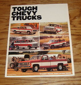 1977 Chevy Suburban Full Color sales brochure