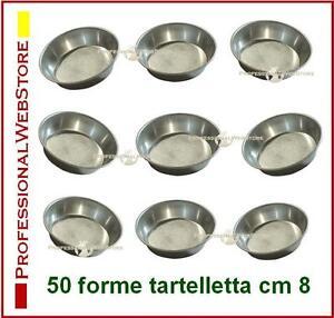 STAMPI-PASTICCERIA-FORME-TARTELLETTE-IN-ALLUMINIO-50-PZ-cm-8-x-2-stampini-dolci