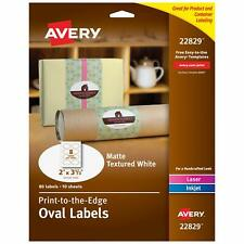 Avery Oval Labels For Laser Inkjet Printers 2 X 3 13 80 Labels