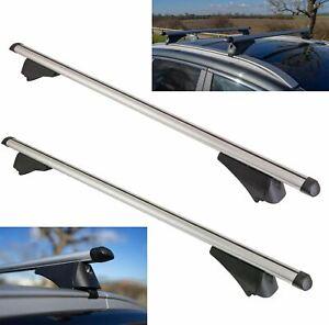 Aluminium Locking Roof Rack Cross Bars fits Fiat Panda 2014-2021 III & Cross